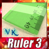 3D Model Ruler 03 High res 3D Model
