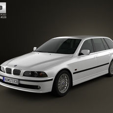 BMW 5-series E39 Touring (1995-2003) 3D Model