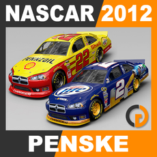 Nascar 2012 Pack - Penske Racing Team Cars 3D Model