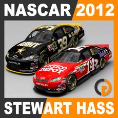 Nascar 2012 Pack - Stewart Haas Racing Team Cars 3D Model