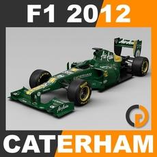 F1 2012 Caterham CT01 - Caterham F1 Team 3D Model