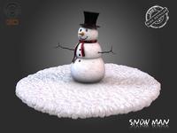 Snow Man 3D Model