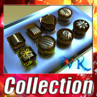 3D Model Chocolate Candy Assortment High res 3D Model