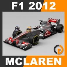 F1 2012 McLaren MP4-27 - Vodafone McLaren Mercedes 3D Model