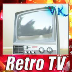 3D Model Retro TV High res 3D Model