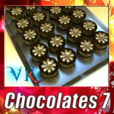 3D Model Chocolate Candy 07 High res 3D Model