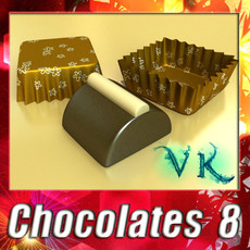 3D Model Chocolate Candy 08 High res 3D Model