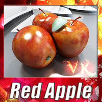 Red Apple High Detail 3D Model
