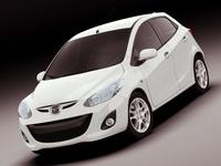 Mazda 2 2011 3D Model