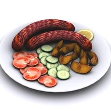 Grilled Sausage 3D Model
