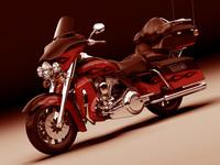 Harley Davidson Electra CVO 2011 3D Model