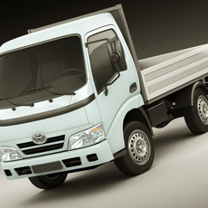 Toyota Dyna Flatbed Truck 3D Model