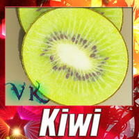 3D Model Photorealistic Kiwi Fruit 3D Model