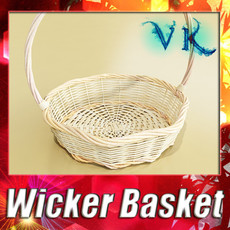 3D Model Wicker Basket 3D Model