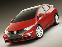 Honda Civic EU 2012 5 Door 3D Model