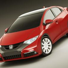 Honda Civic EU 2012 5 Door 3D Model