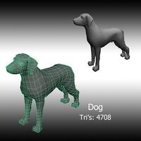 Free Basic Dog 3D Model