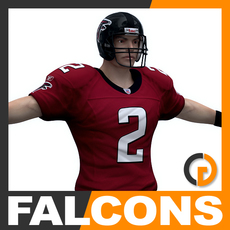NFL Player Atlanta Falcons 3D Model