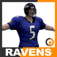 NFL Player Baltimore Ravens 3D Model