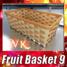 3D Model Wicker Fruit or Bread Basket 3D Model