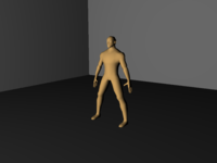base character mesh (low-poly) 3D Model