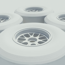 Pirelli slick tire - no materials or textures 3D Model