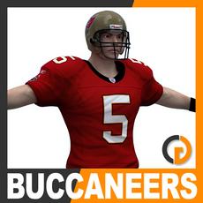 NFL Player Tampa Bay Buccaneers 3D Model