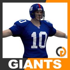 NFL Player New York Giants 3D Model