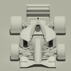 Jordan 191 F1 car - no materials or textures 3D Model