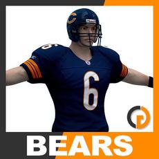 NFL Player Chicago Bears 3D Model