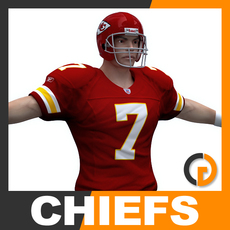 NFL Player Kansas City Chiefs 3D Model