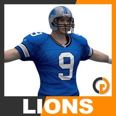 NFL Player Detroit Lions 3D Model