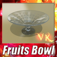 3D Model Glass Compote Bowl 3D Model