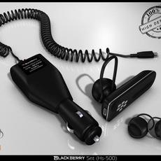 Blackberry Set Hs500 3D Model