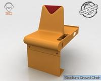 Stadium Crowd Cheir 3D Model