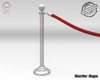 Barrier Rope 3D Model