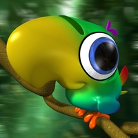 Cartoon Parrot Rigged 3D Model