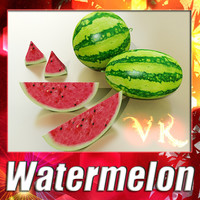 3D Model Watermelon High Res Texture 3D Model
