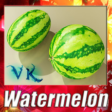 Watermelon High Res Texture 3D Model