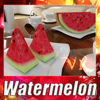 3D Model Watermelon High Res Textures 3D Model