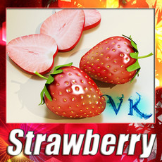 3D Model Photorealistic Strawberry High Res 3D Model