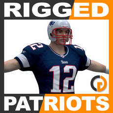 NFL Player New England Patriots Rigged 3D Model