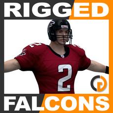 NFL Player Atlanta Falcons Rigged 3D Model