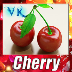 Photorealistic Cherries High Res 3D Model