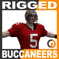 NFL Player Tampa Bay Buccaneers Rigged 3D Model