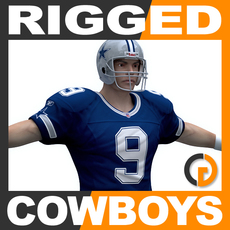 NFL Player Dallas Cowboys Rigged 3D Model