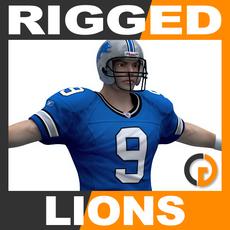 NFL Player Detroit Lions Rigged 3D Model