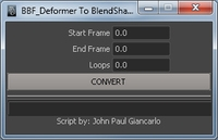 Free Deformer to Blendshape for Maya 1.0.0 (maya script)