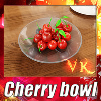 3D Model Cherries in Glass Bowl High Res 3D Model