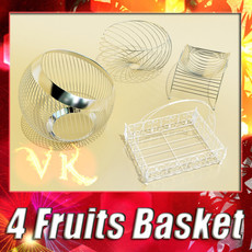 3D Model Metal Basket Collection 3D Model